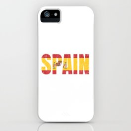 Spain Country Vintage Spanish National Flag Gift iPhone Case