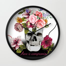 Love is compromise Wall Clock