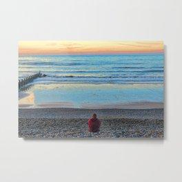 Cromer Beach, U.K at Sunset Metal Print