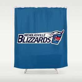 Nicholasville blizzards Full Logo Shower Curtain