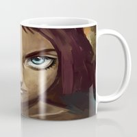 raven Mugs featuring Raven by Freeminds