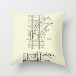 Railroad Track Construction-1932 Throw Pillow