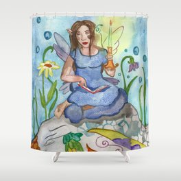 Last Candle (Fairy and the Dragon) Shower Curtain