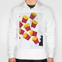 fries Hoodies featuring Oh fries by Drica Lobo Art