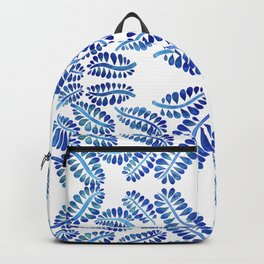 Blue leaves pattern watercolor Backpack