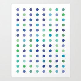 Circular Dalmatian Spots - Ocean #472 Art Print