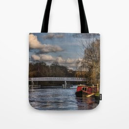 Below The Weir at Pangbourne Tote Bag
