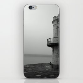 misty harbour lighthouse iPhone Skin