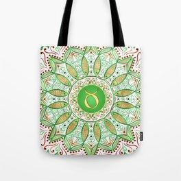Zodiac Sign Taurus Mandala Tote Bag