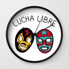LUCHA LIBRE#21 Wall Clock