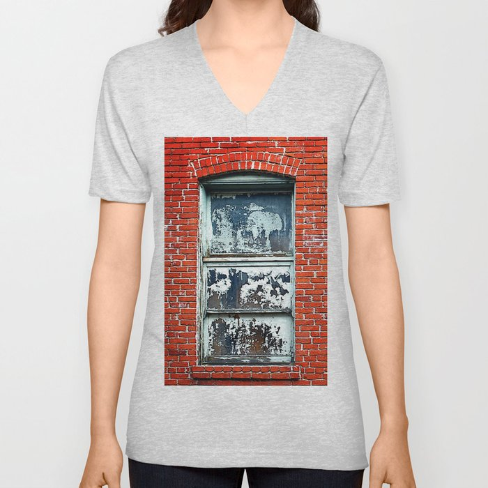Old Windows Bricks Unisex V-Neck