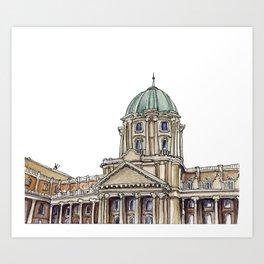 Buda castle Art Print