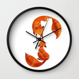 Kissing foxes Wall Clock