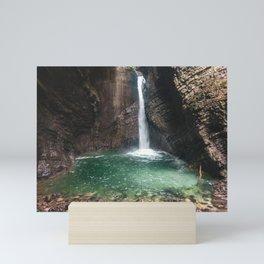 Hidden Waterfall, Slovenia Mini Art Print