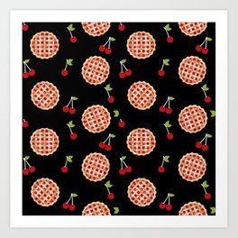 Pies trendy food fight apparel and gifts Art Print