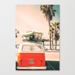 Surf California Mini Van Canvas Print