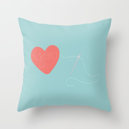 Stitched Heart Throw Pillow