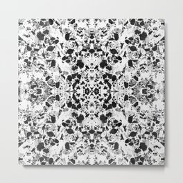 Beautiful Black and White Terrazzo Tile Metal Print