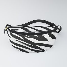 modern safari animal print black and white zebra stripes Fanny Pack