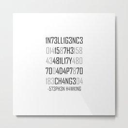 Adapt or Die Encoded Metal Print