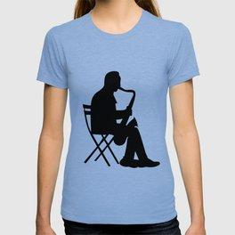 Saxaphone Silhouette T-shirt