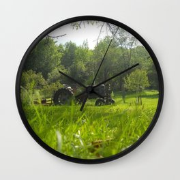 Pappys Tractor Wall Clock