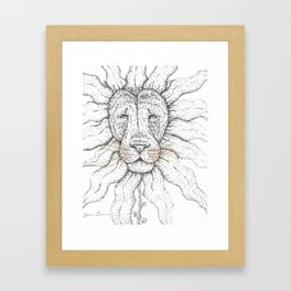 Flower Lion Framed Art Print