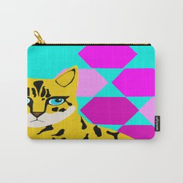 Bengal & Hexagons Carry-All Pouch