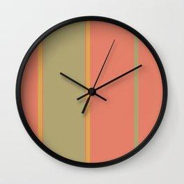 Mango Lime Stripes Wall Clock