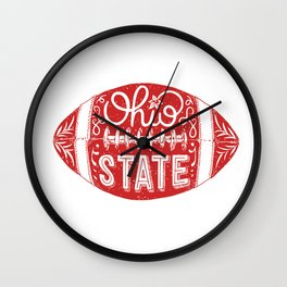 Ohio State Football Wall Clock