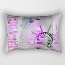 Statue of  Liberty pink mixed media art Rectangular Pillow