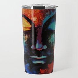 Lord Buddha Abstract Art Travel Mug