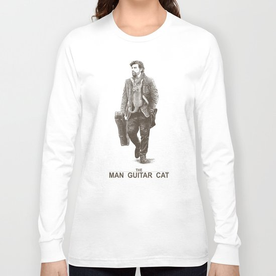 The Man Guitar Cat Long Sleeve T-shirt