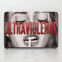 ultraviolence iPad Cases featuring Ultraviolence by MarryTheSequins