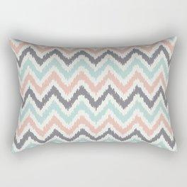 Mint Gray Coral Zigzag Pattern Rectangular Pillow