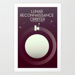 Lunar Reconnaissance Orbiter Art Print
