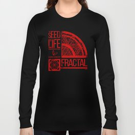 Sacred Geometry-The Seed of life-FRACTAL Long Sleeve T-shirt