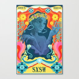 SXSW Mock Poster Canvas Print