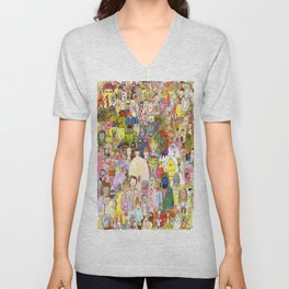 The Fuzzy Crowd Unisex V-Neck