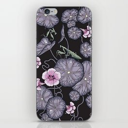 Black Indian cress garden iPhone Skin