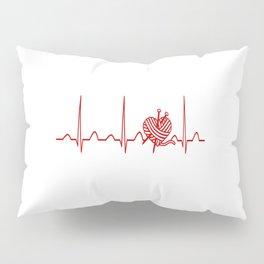 CROCHET HEARTBEAT Pillow Sham
