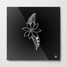 Brave Flower - Black Background Metal Print