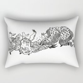 The chase - version 2 Rectangular Pillow