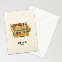 Iowa state map modern Stationery Cards