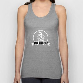I'm The Engine for a Mountain Biker Unisex Tank Top