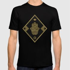 A Blessing (Gold) Mens Fitted Tee MEDIUM Black