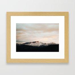 Sunset on Trail Ridge Framed Art Print