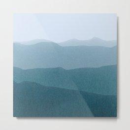 gradient landscape Metal Print