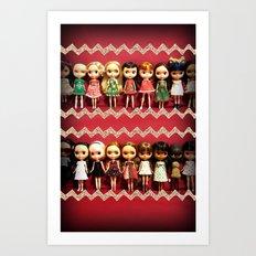 Collection dolls Art Print