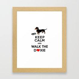 Walk the Doxie Framed Art Print